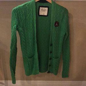 Women's Green Abercrombie Cardigan